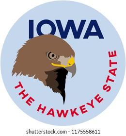 iowa: the hawkeye state | digital badge