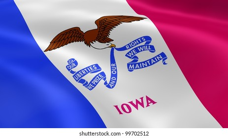 Iowan flag in the wind. Part of a series.