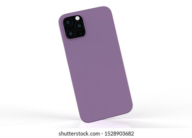 iphone 11 or iphone max pro Phone case on isolated white background. Mobile cover for montage or your design. 3d illustration