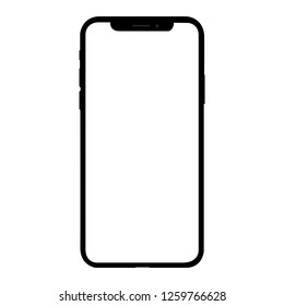 iphone front isolated on white background vector
