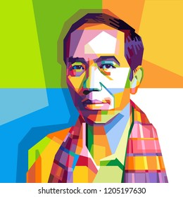 ir. H. Joko Widodo is A President Of Indonesian, This is a pieces pop art with beautifull color