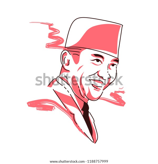 ir soekarno indonesian first president stock illustration 1188757999 https www shutterstock com image illustration ir soekarno indonesian first president 1188757999