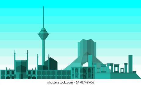 Iran Building, Milad Tower, Azadi Tower, Naqsh-She-Jahan, Takht-E-Jamshid,Isfahan,Shiraz,Tehran
