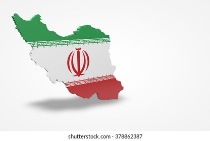 Iran flag 3d perspective view isolated
