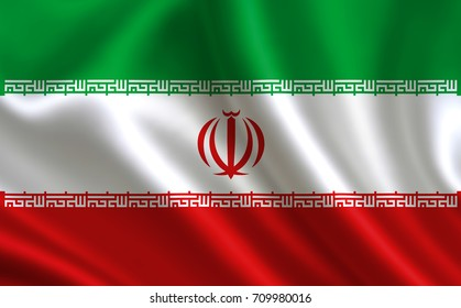 Iran flag. A series of flags of the world.