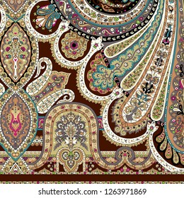 Iranian paisley shawl scarf india pattern design