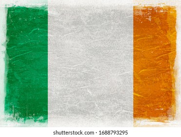 Ireland Flag, Ireland, Ireland Flag Background, Grunge Flag Background, Vintage Flag Background, Banner, Ireland Wallpaper,