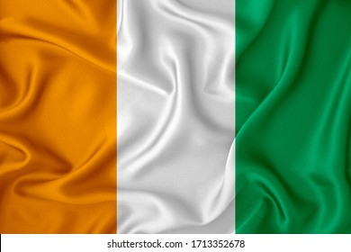 Ireland flag on the background texture. Concept for designer solutions.