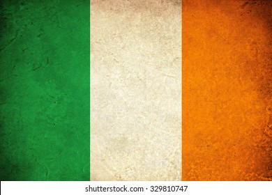Ireland grunge flag illustration of european country