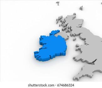 Map Of Ireland 3d.Ireland Map 3d Images Stock Photos Vectors Shutterstock