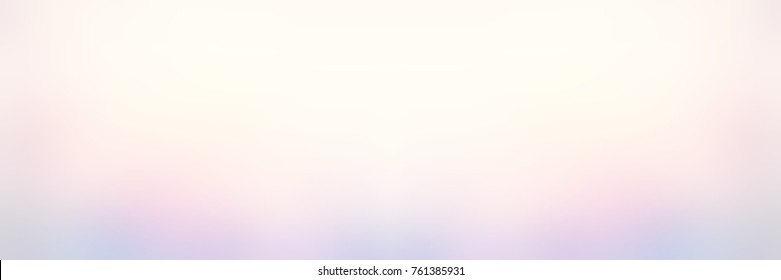 Iridescent pearl blurred background. Empty festive banner. Wedding trend. Rainbow abstract image. Light delicate texture. White, yellow, pink, blue gradient.