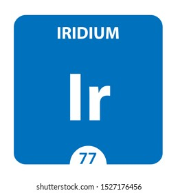 Iridium Chemical 77 element of periodic table. Molecule And Communication Background. Iridium Chemical Ir, laboratory and science background. Essential chemical minerals and micro elements