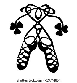 Irish dance shoes. Doodle style