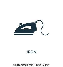 Iron icon. Premium style design from household collection. UX and UI. Pixel perfect iron icon. For web design, apps, software, printing usage.