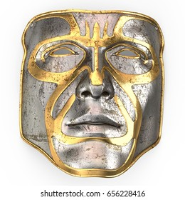 masque facial en metal