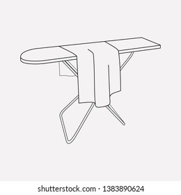 Ironing board icon line element.  illustration of ironing board icon line isolated on clean background for your web mobile app logo design.