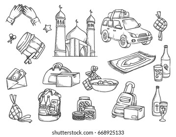 Islamic doodle, suitable for Ramadan or Eid mubarak event
