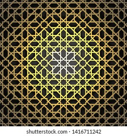 Фотообои islamic pattern used for background wallpaper abstract design decorative geometric shape ornament with gold colored