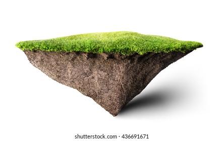 island floating 3D illustration