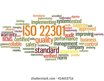 Iso 22301 Business Continuity Management Word Stock Illustration