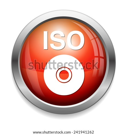 Iso Cd Dvd Button Stock Illustration - Royalty Free Stock