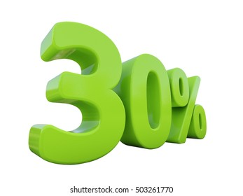 Isolated 30 Percent Discount 3d Sign on White Background, Special Offer 30% Discount Tag, Sale Up to 30 Percent Off, Sale Symbol, Special Offer Label, Sticker, Tag, Badge, Emblem, Web Icon