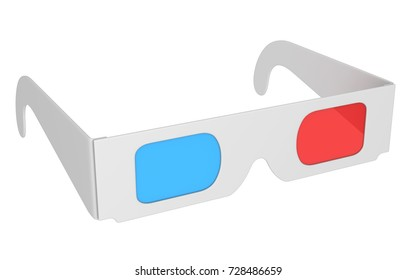 Isolated 3d Glasses , This is a 3d Rendered Computer Generated Image. Isolated on White.