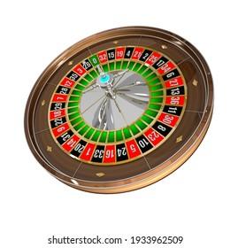 Isolated 3D Roulette wheel Casino Model