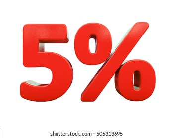 Isolated 5 Percent Discount 3d Sign on White Background, Special Offer 5% Discount Tag, Sale Up to 5 Percent Off, Sale Symbol, Special Offer Label, Sticker, Tag, Badge, Emblem, Web Icon