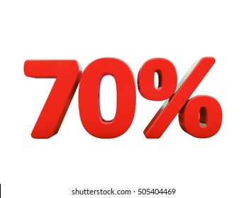 Isolated 70 Percent Discount 3d Sign on White Background, Special Offer 70% Discount Tag, Sale Up to 70 Percent Off, Sale Symbol, Special Offer Label, Sticker, Tag, Badge, Emblem, Web Icon