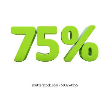 Isolated 75 Percent Discount 3d Sign on White Background, Special Offer 75% Discount Tag, Sale Up to 75 Percent Off, Sale Symbol, Special Offer Label, Sticker, Tag, Badge, Emblem, Web Icon
