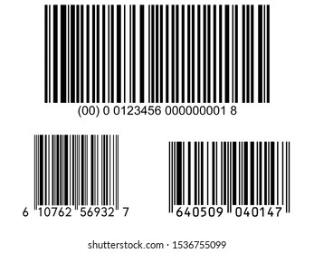 isolated bar code on white background