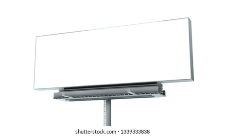 isolated billboard 3d rendering mockup