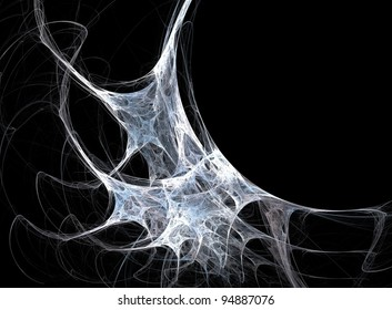 isolated in black - spider's web illustration