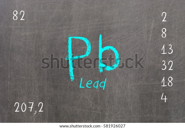 Isolated blackboard with periodic table, Chromium, Chemistry