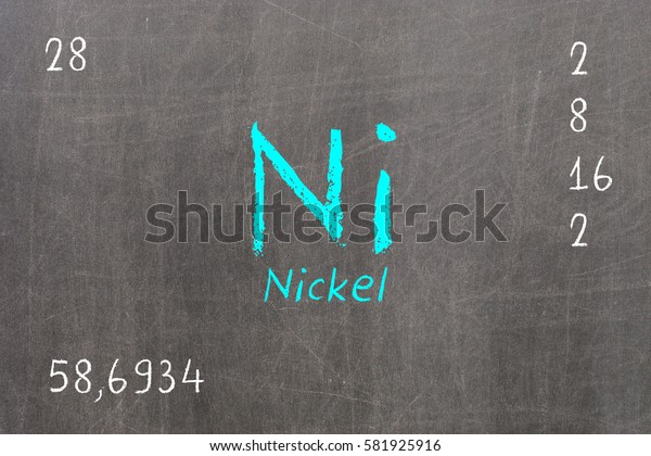 Isolated blackboard with periodic table, Nickel, Chemistry