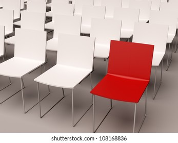 isolated chairs