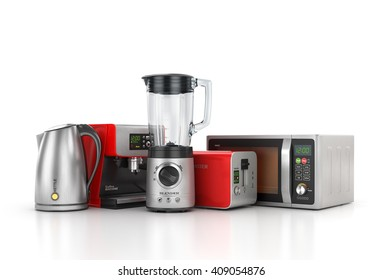 Isolated coffee maker on a white background. 3d illustration