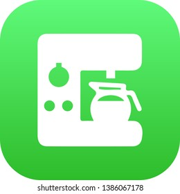 Isolated coffeemaker icon symbol on clean background.  espresso dispenser element in trendy style.