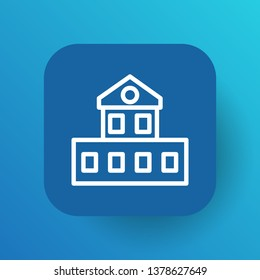 Isolated cottage icon line symbol on clean background.  edifice element in trendy style.