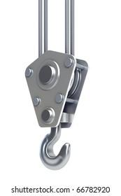 isolated crane hook 3d render
