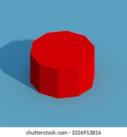 Isolated Decagon - 3D Illustration