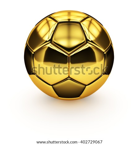 25d7ff7db Royalty Free Stock Illustration of Isolated Golden Soccer Ball On ...