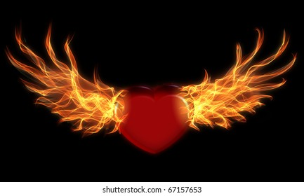 Fire Wings Images Stock Photos Vectors Shutterstock
