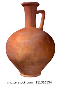 Isolated illustration of an ancient Roman wine jug