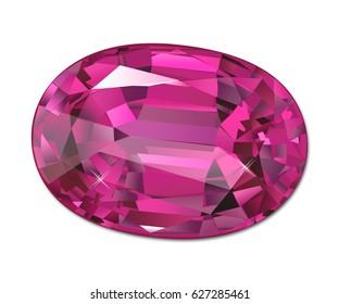 Isolated jewel on white background Gemstone, gem, jewel, precious stone, precious gem, precious jewel,