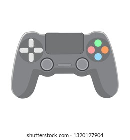 Isolated joystick in flat style on a white background.