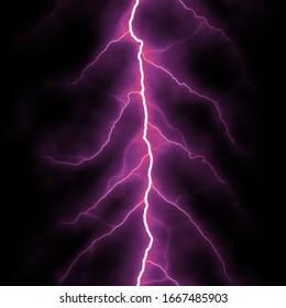 Isolated lightning bolt on a black background