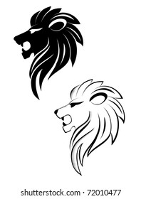 Isolated lion head as a symbol or sign. Vector version also available in gallery
