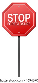 Isolated Metaphor Sign with Stop Foreclosure